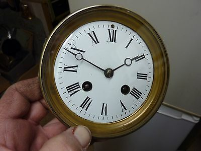 Antique French Clock Striking Movement & Dial (Zn)