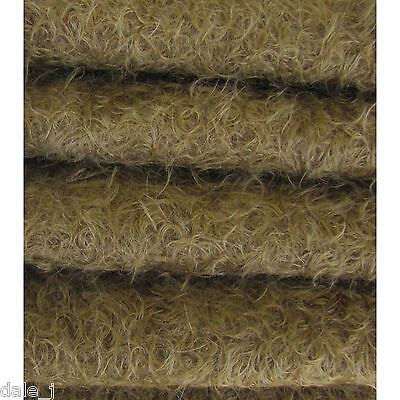"""1/4 yd 325S/CM Mink INTERCAL 5/8"""" Semi-Sparse Curly-Matted Mohair Fur Fabric"""