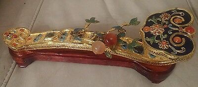 Chinese gilt Ruyi Scepter Traditional good luck handle and head