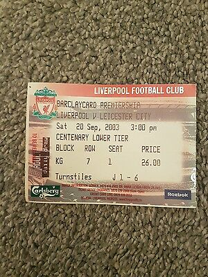 Liverpool v Leicester ticket