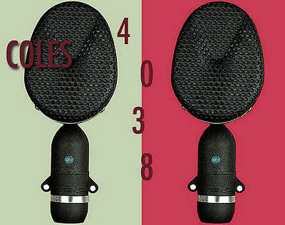 COLES 4038 RIBBON MICS/MATCHED PAIR *NEW* with *free* 4072 Stand Mount Adaptors