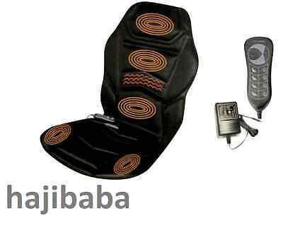 Heated Back Seat Massager Cushion For Chair Car Massage Home Relax Car Stress