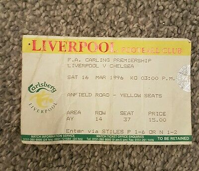 Liverpool v Chelsea ticket