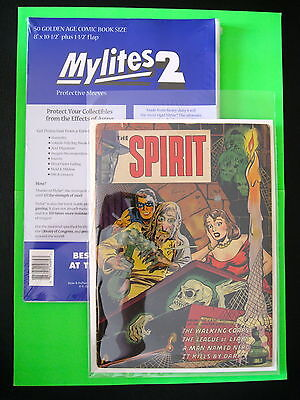 MYLITES2 x 50 GOLDEN AGE COMIC BOOK SIZE 8'' x 10.5''.MYLAR COMIC BAGS/SLEEVES.