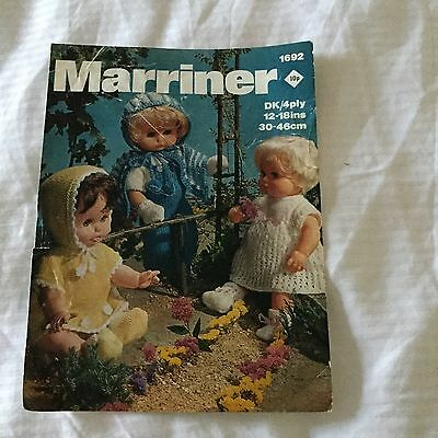 Vintage Knitting Pattern For Dolls Clothes