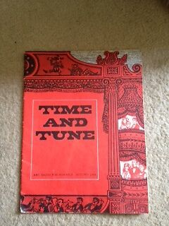 BBC Schools, TIME AND TUNE SPRING AUTUMN 1968 PUPILS PAMPHLET