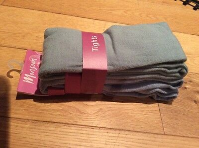 Brand New Girls 2 Pack Monsoon Tights Age 10 - 11 Years