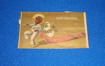 Vintage Black Americana Trade Card Jas. S. Kirk & Son Soap Makers Chicago