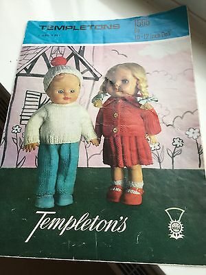 Vintage Knitting Pattern For Dolls Outfit