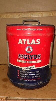 Vintage Atlas Ruglyde  5 Gallon Oil Can  All Metal