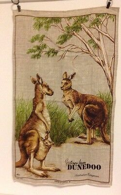 Greetings From Dunedoo Australian Kangaroos Tea Towel