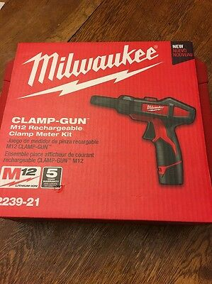Milwaukee Clamp Gun M12 Rechargeable Clamp Meter Kit