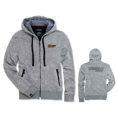 NEW Ducati Scrambler Wing Hooded Sweatshirt SIZE S Grey