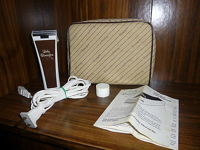 1980's Lady Remington Electric Shaver With Case and Use & Care Manual
