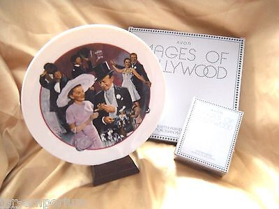 """AVON """"Easter Parade"""" Plate PLUS Matching Wood Musicial Plate Stand New in Boxes"""