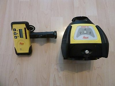 Leica Rugby 50 Rotating Laser Level  with Receiver