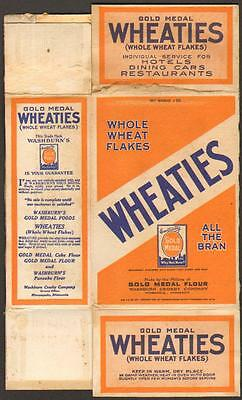 1925 Washburn Crosby Gold Medal Wheaties cereal box