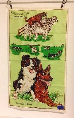 Greetings From Coonamble Australian Sheepdogs Tea Towel