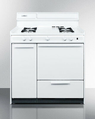 Summit Apartment Size Gas Oven, With Storage Cabinets, WNM4307