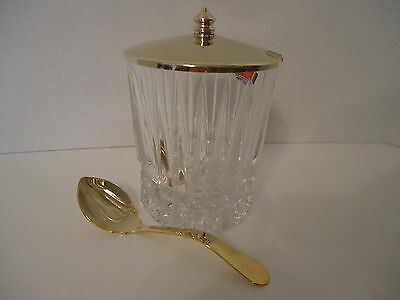 New Fostoria Heritage Condiment Set 24% Lead Crystal Made In USA