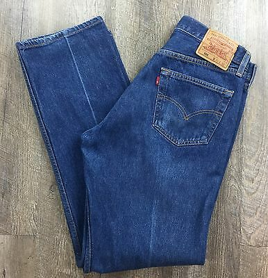 vintage Mens LEVIS 501 Button Fly Denim Blue Jeans 35 x 32 Made in USA