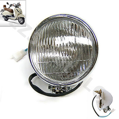 Headlight Retro Look Chinese Scooter 50-150 Gy6 Baron Lance Vintage Bms Znen