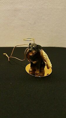 "ROTTWEILER ~ DOG ANGEL ORNAMENT ~ Pet Statue Christmas Ornament ~ 2""X3"" ~ NEW!!"