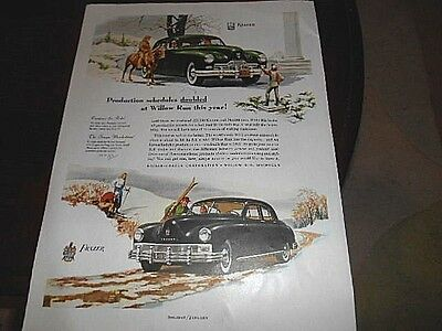 1947 Kaiser & Frazer Car Advertisement-Willow Run, Michigan