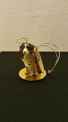 "BRITTANY SPANIEL ~ DOG ANGEL ~ Pet Statue Christmas Ornament ~ 2""X3"" ~ NEW!! A"