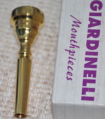 GIARDINELLI 10B Trumpet mouthpiece GOLD PLATE New Old Stock!!!