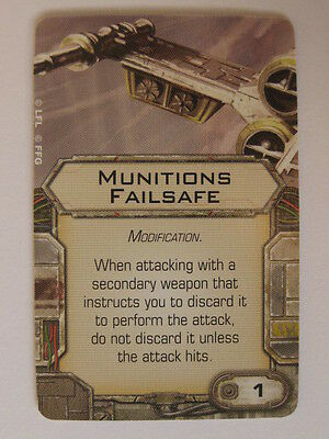 X-Wing Upgrade Card - Munitions Failsafe