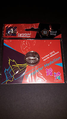 Royal Mint London 2012 Olympics 50P Completer Medallion  Pack Brand New!!