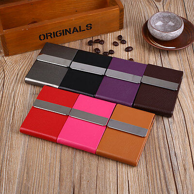 PU Leather Card Case Classical Metal Cigarette Tobacco Box Smoking Gift