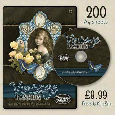 GIANT Vintage Ladies and Flowers Quality Card Making CD   Free, Fast P&P