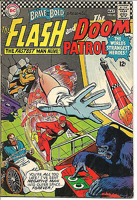 The Brave and the Bold #65 (Apr-May 1966, DC) VG/FN, Flash, Doom Patrol