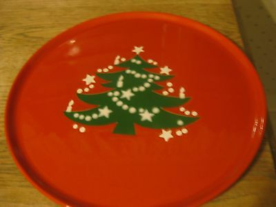 "Waechtersbach W. Germany red green tree with white accents 12"" platter. Mint"