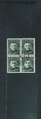 Slovakia 1939 50h green Mgr Tiso block of 4 SG 45 Used