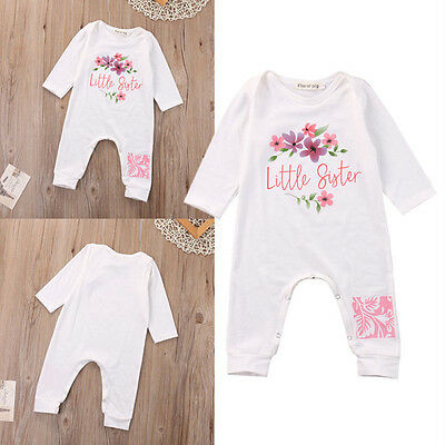 One-Piece Toddler Baby Girl Clothes Long Sleeve Bodysuit Romper Jumpsuit Outfits