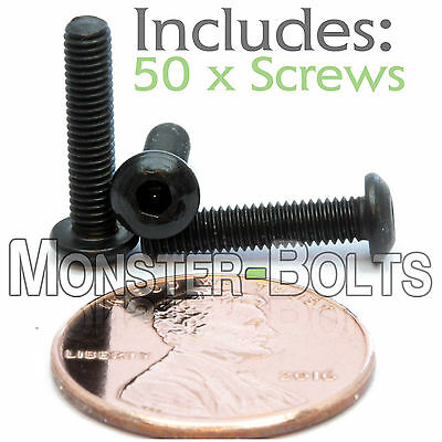 A2 Stainless Steel BUTTON HEAD Screws ISO 7380 M3 3mm x 0.50 x 20mm Qty 50