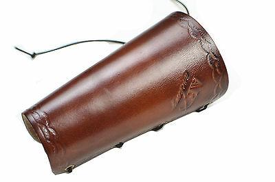 Archery Accessory Brown Cow Leather Arm Protector Hunting Arm Guard for Shooting