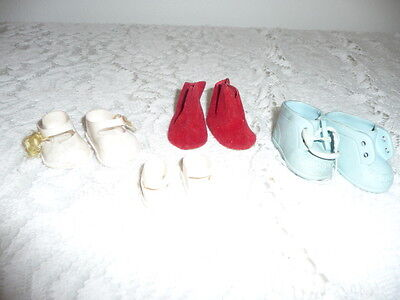 Vintage Doll Shoes Lot -  Tiny Tears Size  Lot Size 4 Pairs
