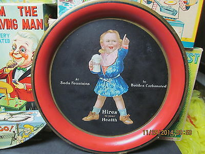 Hires Root Beer Ugly Kid Serving Tray 1910 Chas Shonk 13 3/8 Inches Excellent