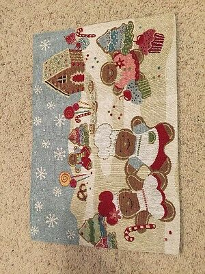 Gingerbread Christmas Candy Tapestry House Placemat