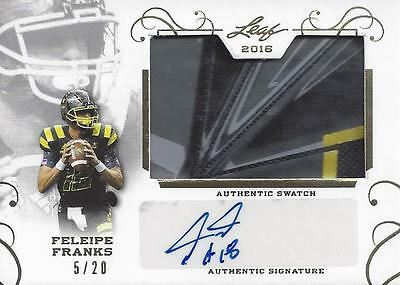 2016 Leaf US ARMY Feleipe Franks FLORIDA GOLD Patch Foil Autograph # 5/20