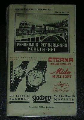 Book List your train trip Indonesia 1954