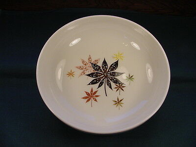 Vintage Peter Terris Original Calico Leaves Shenango China Serving Bowl