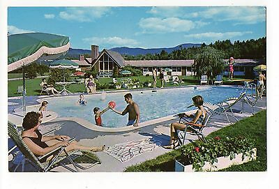 Alpine Motor Lodge Stowe Vermont, Vintage Postcard, Jun16