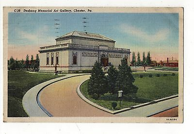 Deshong Memorial Art Gallery Chester Pennsylvania Vintage Postcard Aug16