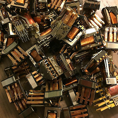 Lot of 6.6lbs electromechanical relays copper metal gold contacts scrap recovery