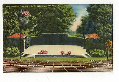 Amphitheatre Oglebay Park Wheeling West Virginia Vintage Postcard Aug16